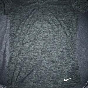 Nike short sleeve heathered grey shirt